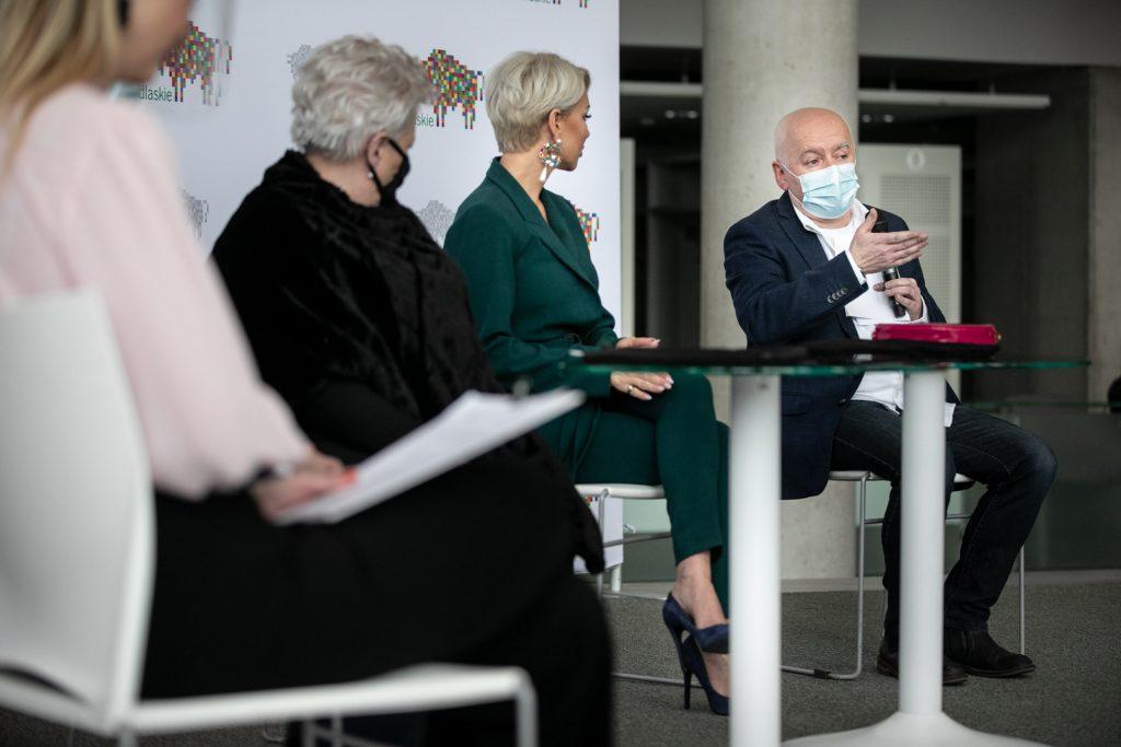 Konferencja prasowa z udziałem Dyrektor OiFP , Marszałka Województwa Podlaskiego, gościem koncertu - Paulą oraz reżyserem widowiska - koncertu walentynkowego, organizowanego w Oifp i transmitowanego w Telewizji Polsat .